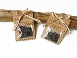 Sachet à graines en kraft à personnaliser pour un mariage, REF 7