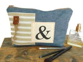 Pochette en jean et coton, REF PT02