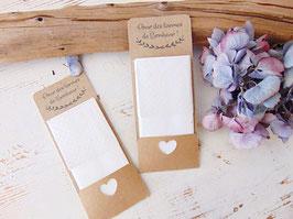 Etui mouchoirs en kraft, cadeau invité mariage champêtre