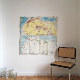 CARTE GEOGRAPHIQUE SAHARA/AFRIQUE OCCIDENTALE