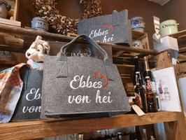 """Hochwertige Filztasche mit """"Ebbes von Hei!"""" Stick"""