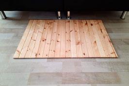 Teppich aus heimischen Zirbenholz. Format: B/L 50x70cm