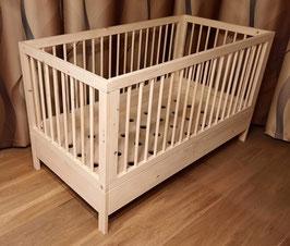 Vom Babybett zum Kinderbett, Modell Lisa & Fred 140x70cm.