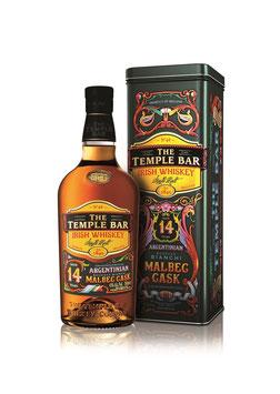 The Temple Bar 14 Jahre Malbec Cask 0,7 l,  Single Malt Whiskey, 43% Vol.