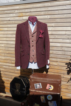 Harris Tweed Jackett -bordeaux-
