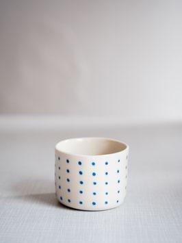 Kleine Kaffeebecher blue dots