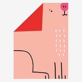 Pop Up Karte Schwein