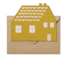 House shaped card