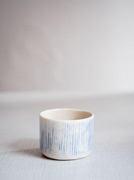 Kleine Kaffeebecher blue stripe