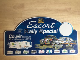 Plaque rallye Grand Escort Rally Special 2018