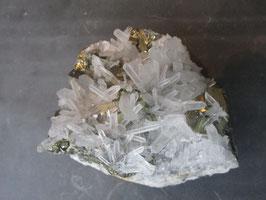 Bergkristal en pyriet