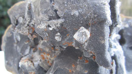 Mirabeau/herkimer diamantjes in septarie