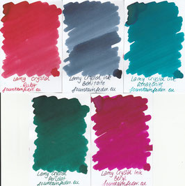 Lamy Crystal Ink Samples