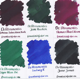 De Atramentis Famous People Ink Samples