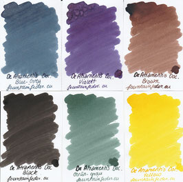 DeAtramentis document ink samples