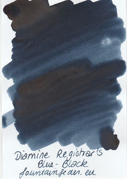 Diamine Registrar`s ink Blue-Black Sample