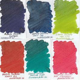 Diamine Shimmer 2018 Ink Samples