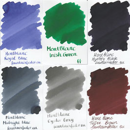 Montblanc Ink Samples