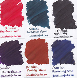 Diamine Shimmering Ink Samples 2ml