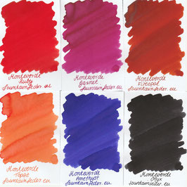 Monteverde Gemstone Ink Samples