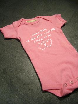 individuelle Geburtsdaten Babybody