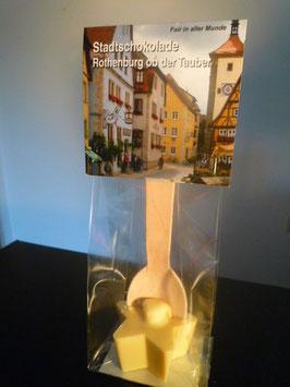 Trinkschokolade am Hlozlöffel Weiß - Rothenburg ob der Tauber