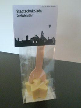 Trinkschokolade am Holzlöffel Weiße Schokolade - Dinkelsbühl Skyline
