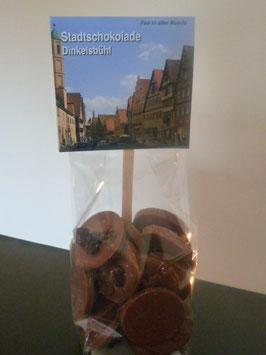 Vollmilch Schokoladentaler mit Bio Rosinen - Dinkelsbühl Foto