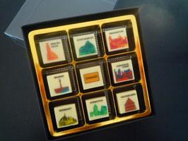 9 er Stadtschokolade Pop Art Design - Dinkelsbühl