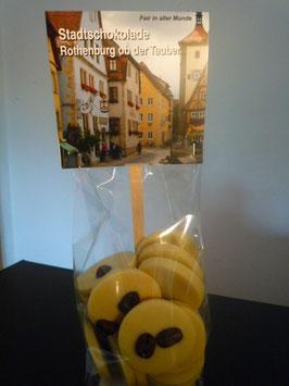 Weiße Schokoladentaler mit Fairtrade Espressobohnen - Rothenburg ob der Tauber