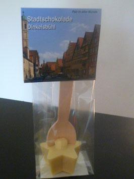 Trinkschokolade am Holzlöffel Weiße - Dinkelsbühl Foto