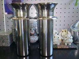 花筒ステンレス  ツバ付  1対(58mm)