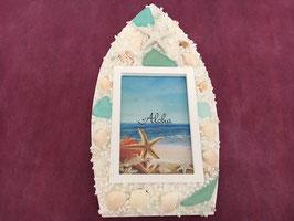 船形ハワイアン貝殻フオトフレーム