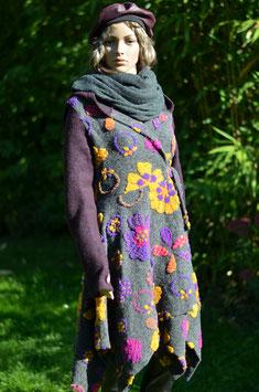 Manteau ML22 fleurs,