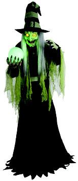 Wahrsagerhexe Animatronic Halloween Deko