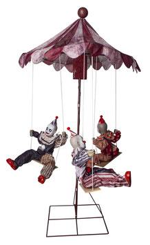 Horrorclown Karussell Animatronic Halloween Deko (Clown Go Round)