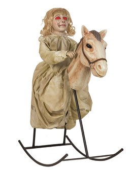 Schaukelpferd Animatronic Halloween Deko (Rocking Horse Dolly)