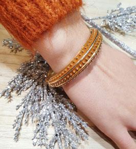 Bracelet Pois Marron