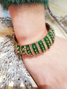 Bracelet Grand Pois Vert