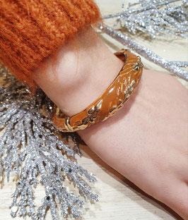 Bracelet Epi de Blé Marron