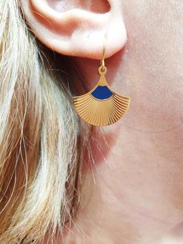 Boucles d'oreilles Jinko Doré Marine