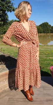 Robe longue Sophie Marron