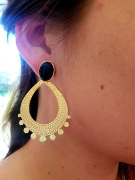 Boucles d'oreilles Thalie Onyx