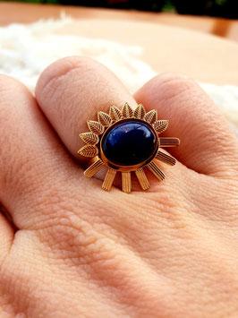 Bague Tournesol Lapis Lazuli