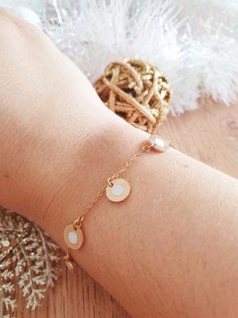 Bracelet Pampilles Frida Blanc