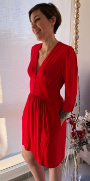 Robe Courte Rosy Rouge