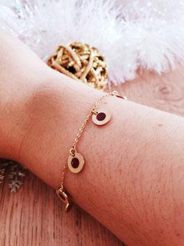 Bracelet Pampilles Frida Bordeaux