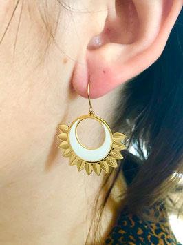 Boucles d'oreilles Callista Blanc