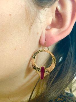 Boucles d'oreilles Kassia Bordeaux