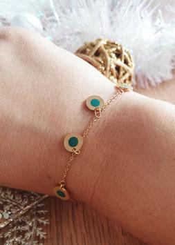 Bracelet Pampilles Frida Vert